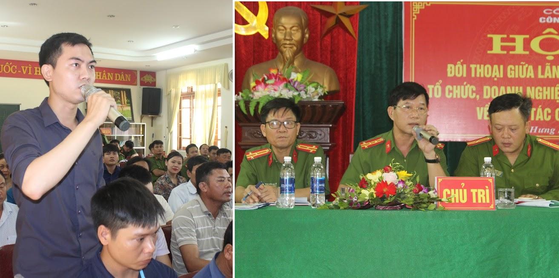 Tăng cường đối thoại nhằm đẩy mạnh cải cách hành chính để phục vụ nhân dân tốt hơn đang được Công an huyện Hưng Nguyên thực hiện hiệu quả