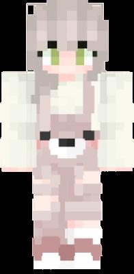 kawaii memina roupa vardinheira urso ursinho olho verde fofo