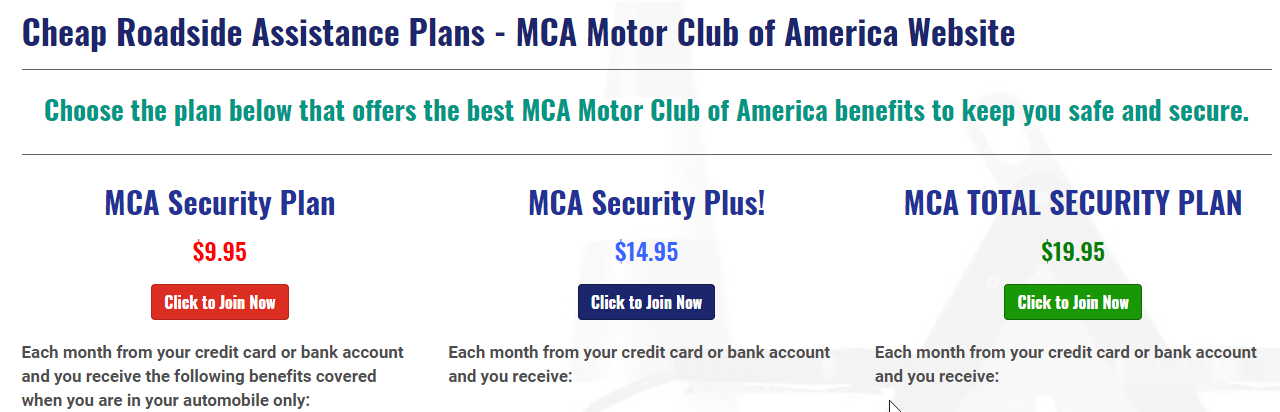 Is The Motor Club Of A America? A Scam Or Legit? Roadside Assistance Package
