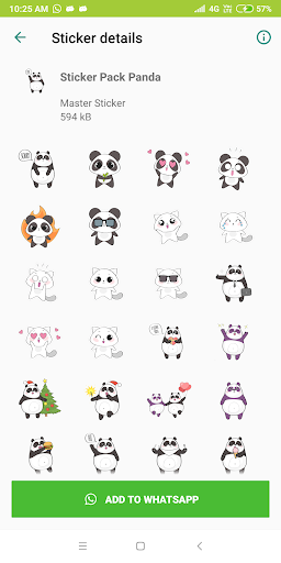Cute Panda Sticker Pack - WAStickerApps New 1.0-release-first screenshots 5