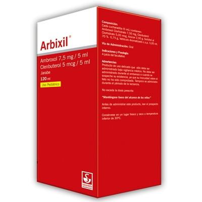 Ambroxol + Clenbuterol Arbixil 7,5 Mg-5 Mcg/Ml Gotas X 15Ml Siegfried 7,5 mg-5 mcg/mL Gotas x 15mL