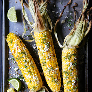 Grilled Shawarma Corn with Fresh Dill.