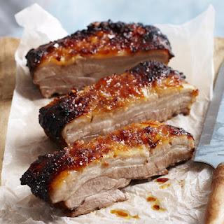Pork Belly with Orange Marmalade Glaze.