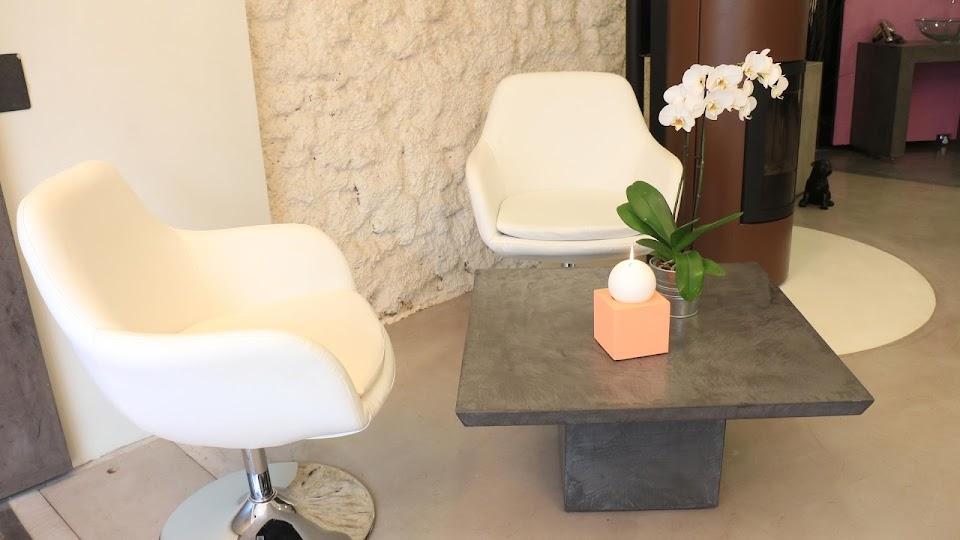 Table Basse en Béton Ciré Décoratif