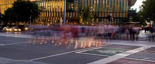 Photo: Crossing the street