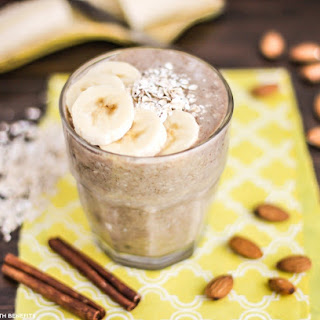 Healthy Banana Bread Overnight Dessert Oats (refined sugar free, gluten free, vegan)