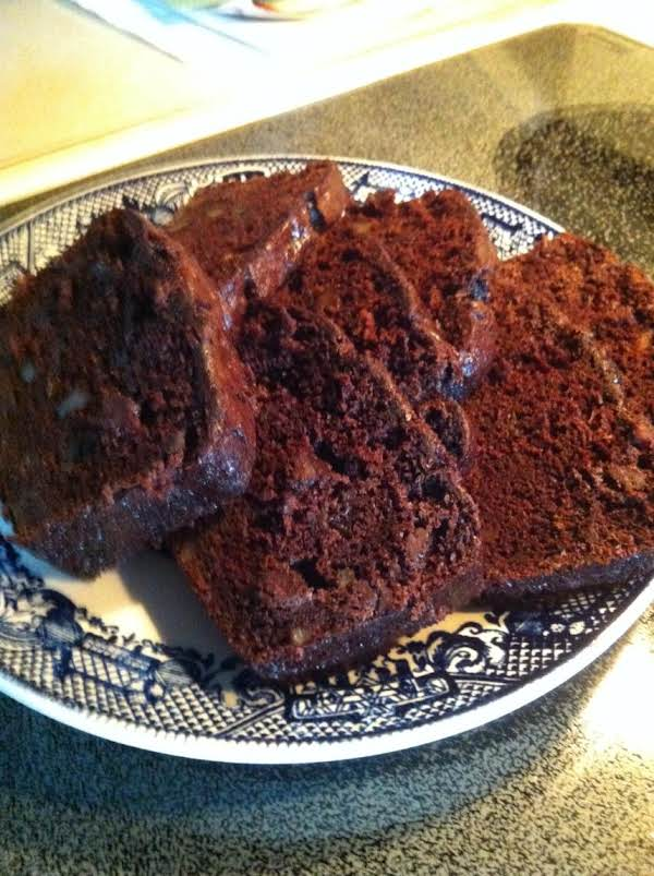 Double-chocolatey Zucchini Nut Bread Recipe