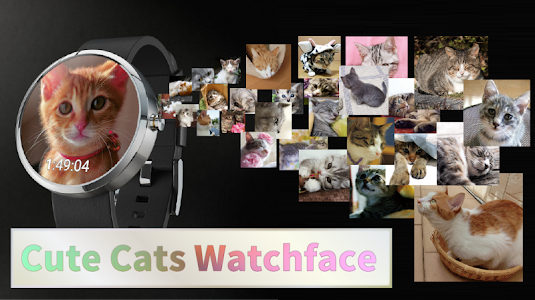 Cute Cats Watchface screenshot 0