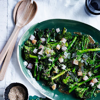 Charred Broccolini With Kingfish, Miso And Sesame