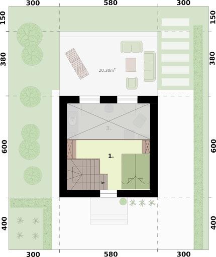 Lido 3 A dom letniskowy na zgłoszenie do 35m2 - Rzut poddasza