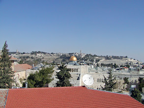 Photo: Although it was only on the third story, the views were spectacular from the restaurant--here is the Dome of the Rock.