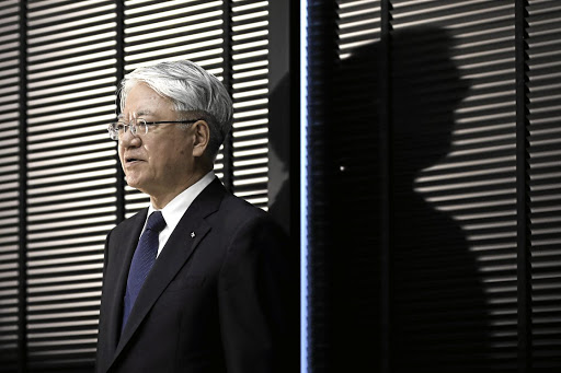 BOWING OUT: Mitsugu Yamaguchi, 60, at present Kobe Steel's currently executive vice-president, will replace Hiroya Kawasaki (pictured) as CEO. Picture: REUTERS