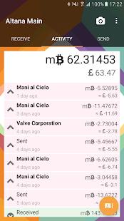 Altana - Bitcoin Wallet - náhled