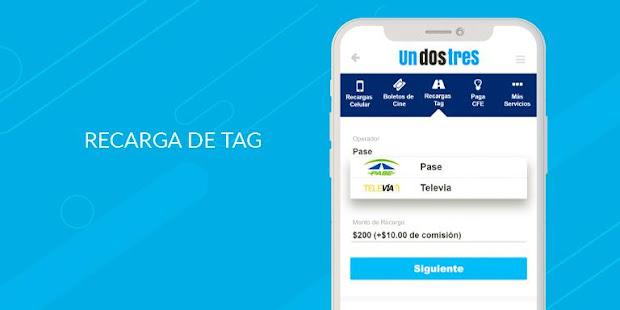 App Recarga Saldo, Tag, Cine, Pago CFE, TV, Agua, Gas APK for Windows Phone