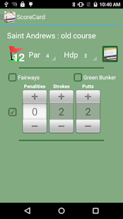 Golf ScoreCard Free- screenshot thumbnail