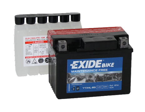 Tudor Exide AGM batteri 12V/3Ah YTX4L-BS