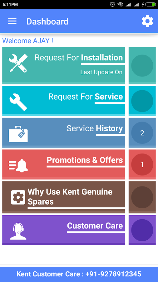KENT Service App- screenshot