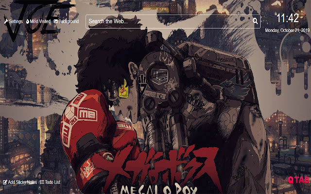 Megalo Box Wallpapers New Tab Theme