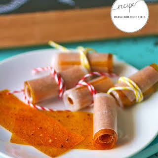 Mango Kiwi Homemade Fruit Rolls.