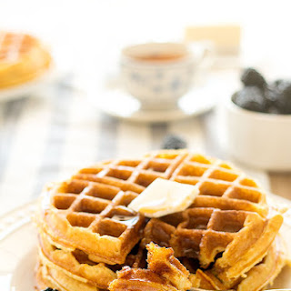 Buttermilk Cornmeal Waffles.