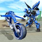 Flying Bike Transformer Robot Icon