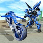 Flying Bike Steel Robots