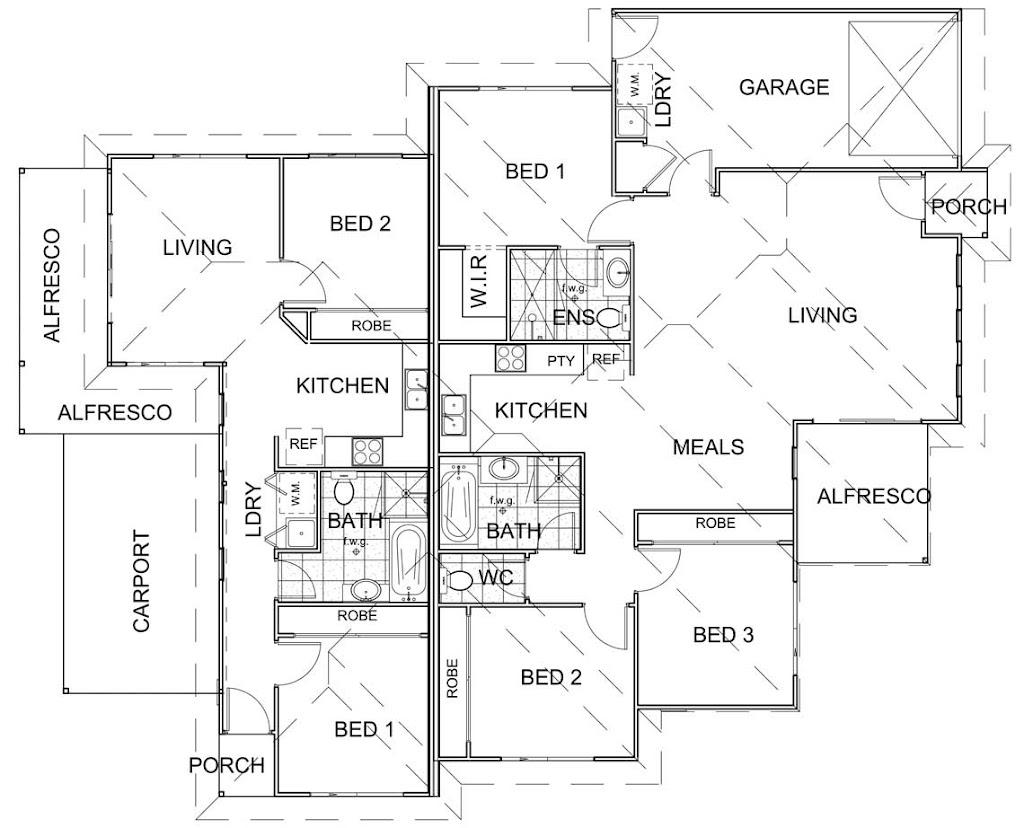 House Plans Duplex, dual income home