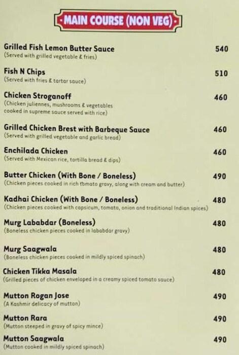 Prime Street Cafe menu 4
