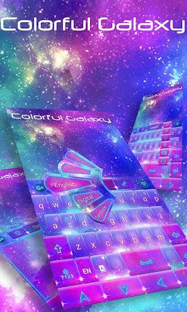 Colorful Galaxy Keyboard Theme 1.85.5.82 screenshot 189081