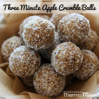Three Minute Apple Crumble Balls.