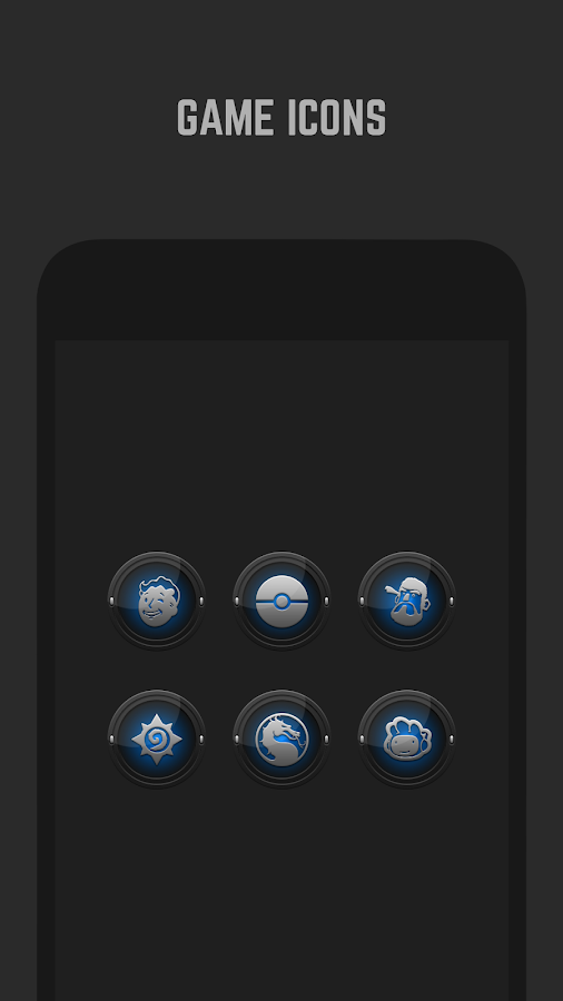 Black and Blue Icon Pack- screenshot