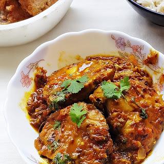 Tamarind King Fish Curry - King Fish (surmai) In Tamarind Sauce
