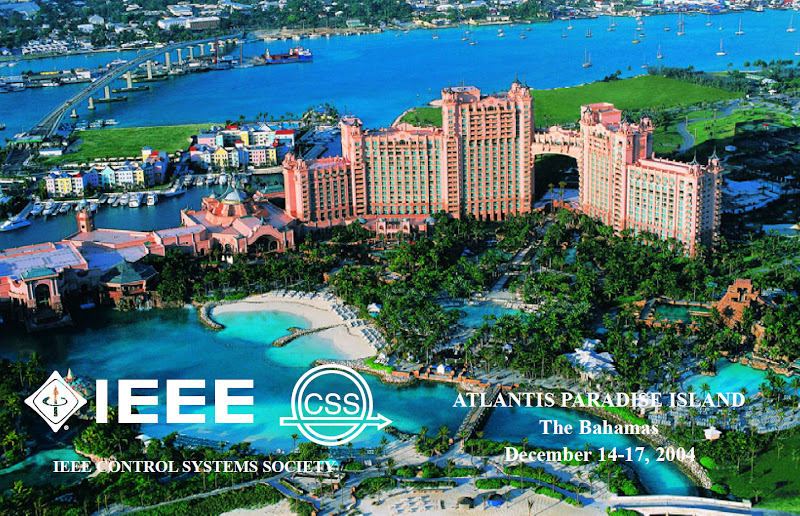 Photo: The 43rd IEEE Decision and Control Conference took place at The Bahamas. I was lucky to attend it.