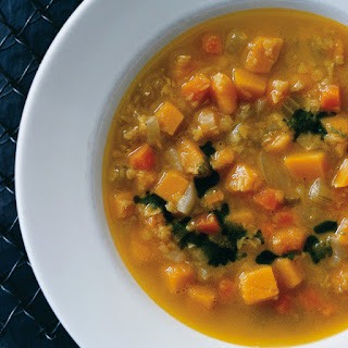 Curried-Squash and Red-Lentil Soup.