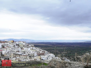 Photo: this is the landscape of Moulay Idriss, a town named after the prominent Moroccan saint, Moulay Idriss who was a descendant of Prophet Muhammad, of the fourth generation, and died by murder hand in 792