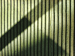 Photo: Shadow geometry  These shadows, cast by reflected light on a wall, made an interesting geometric pattern, a subtle light and shadow play.