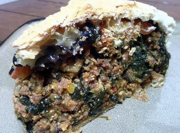 Italian Meat And Spinach Pie
