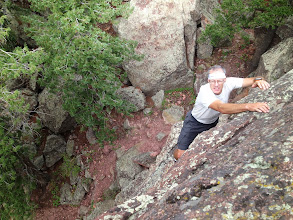Photo: Climbing the steep, juggy Yodeling Moves (5.0)