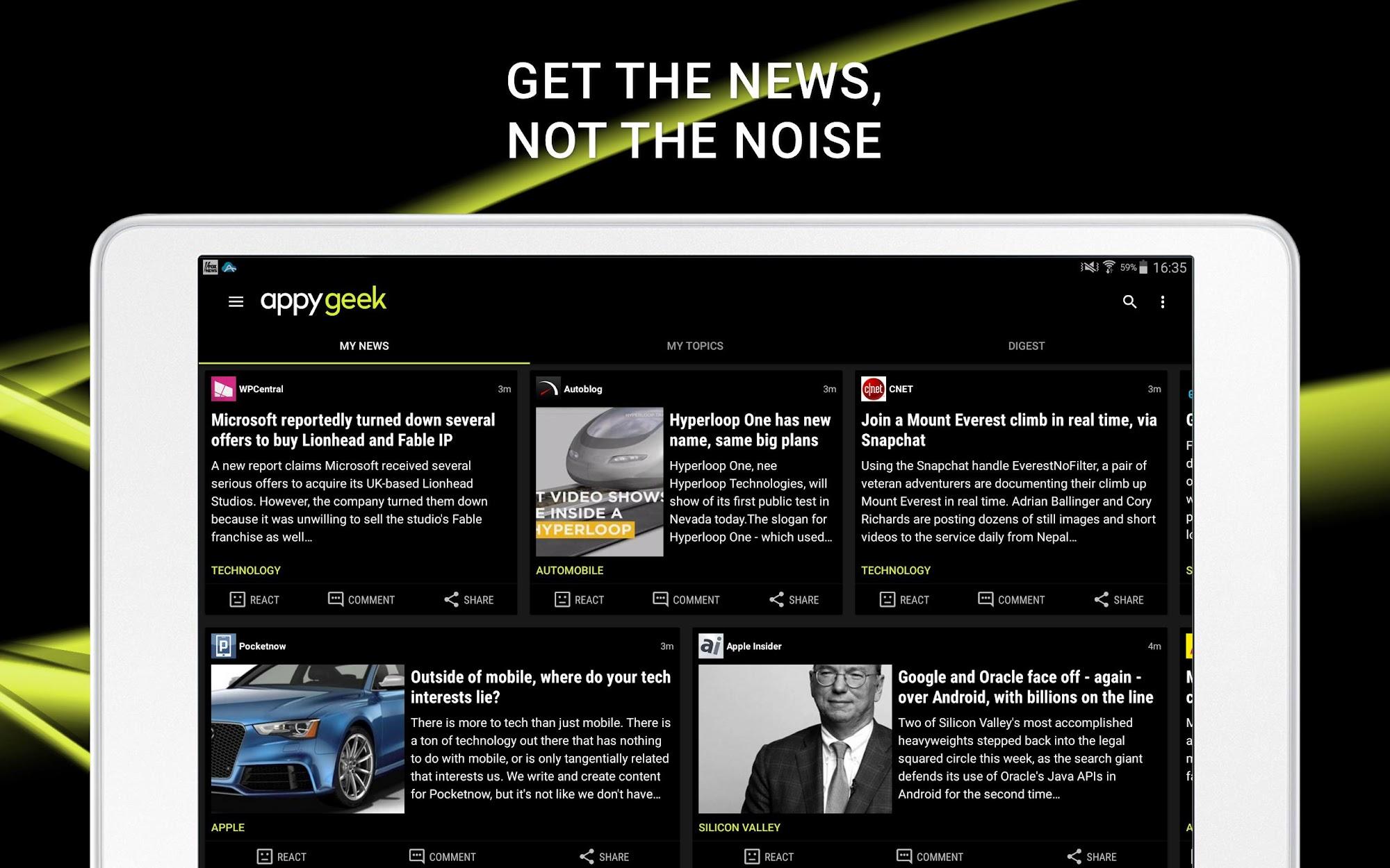 Appy Geek – Tech news screenshot #9