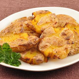 Crispy Flattened Truffled Potatoes.