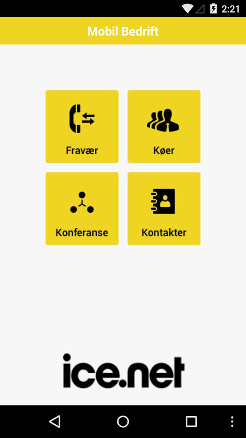 ice.net Mobil Bedrift - screenshot