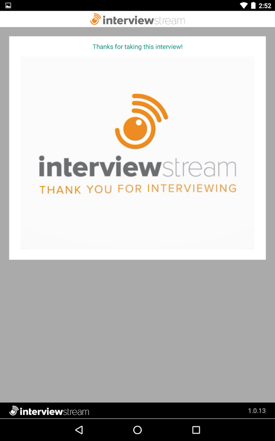 InterviewStream Thrive- screenshot