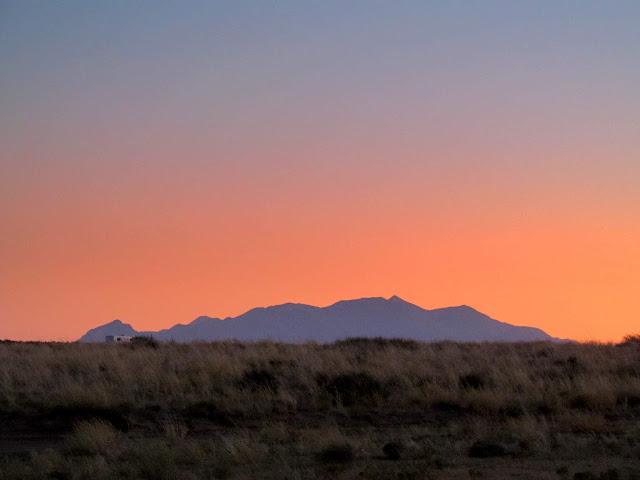 Wednesday's sunset over the Henrys