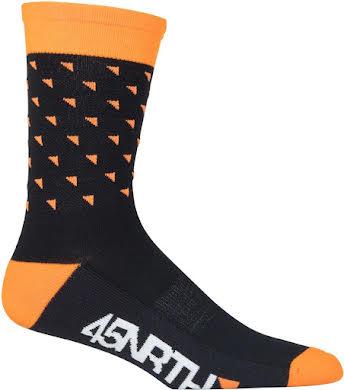 45NRTH Midweight Sock - Orange Triangles alternate image 1