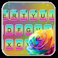 Rainbow Rose Keyboard Theme