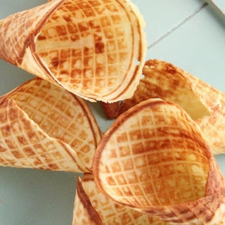 Homemade Waffle Cones.