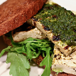 Grilled Chimichurri Tofu Sandwiches
