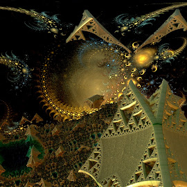 System-atic by Rick Eskridge - Illustration Sci Fi & Fantasy ( fantasy, jwildfire, mb3d, fractal, twisted brush )