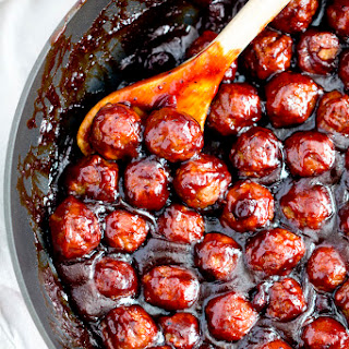 Spicy Cranberry Barbecue Meatballs.
