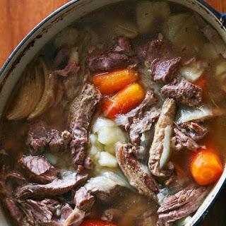 Irish Lamb Stew with Bacon.